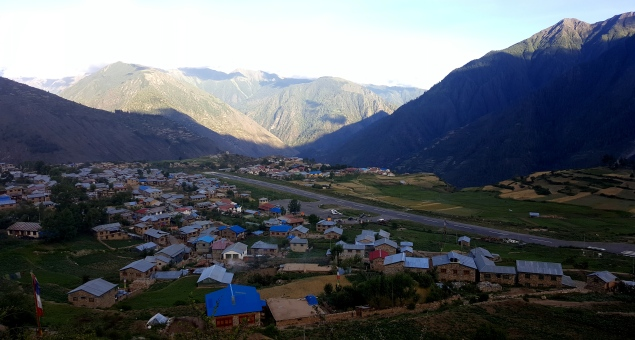 Simikot Airport and Village