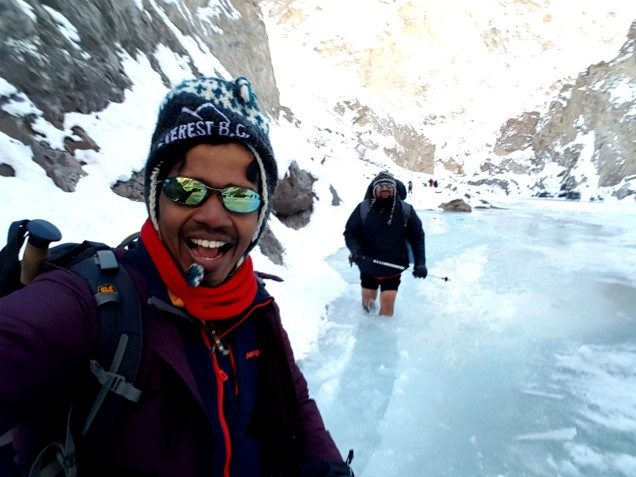 Chadar-Trek-Zanskar-In-The-Water